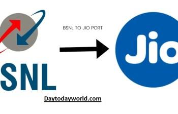BSNL TO JIO PORT