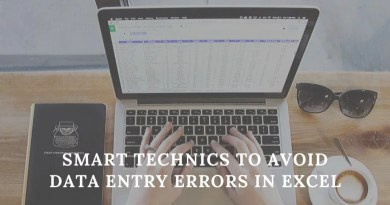 Smart Technics To Avoid Data Entry Errors in Excel