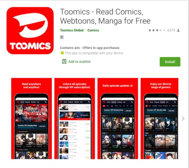READ TOOMICS FOR FREE