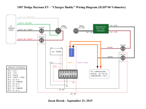 Diagram – Charger Buddy Wiring – JLD5740 Voltmeter (09212015) | Jason's Dodge Daytona EV Blog