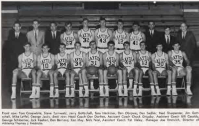 Yearbook photograph of the 1968-1969 Flyers Varsity team