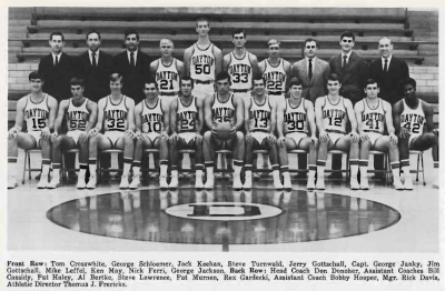 Yearbook Photo of the 1969-1970 Flyers Varsity team