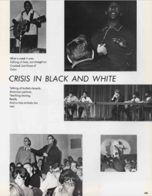 Images from the Crisis in Black and White event on campus at the University of Dayton.