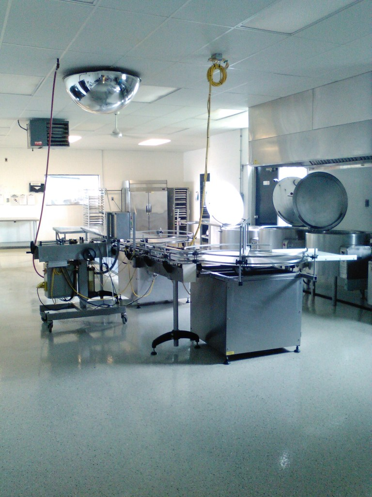 The commercial kitchen prep area and canning like at the NOCK
