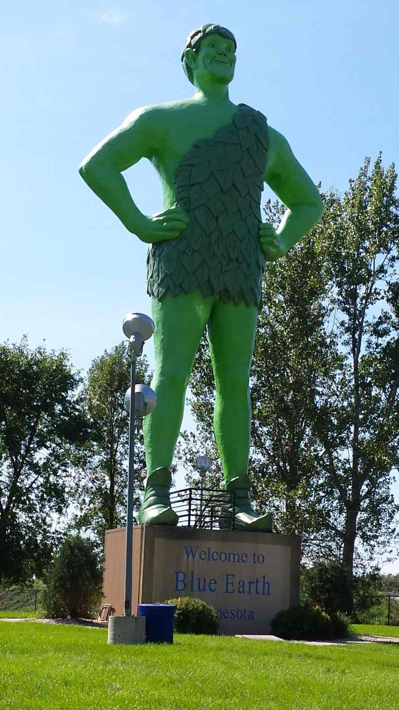 Jolly Green Giant, Blue Earth Minneaots