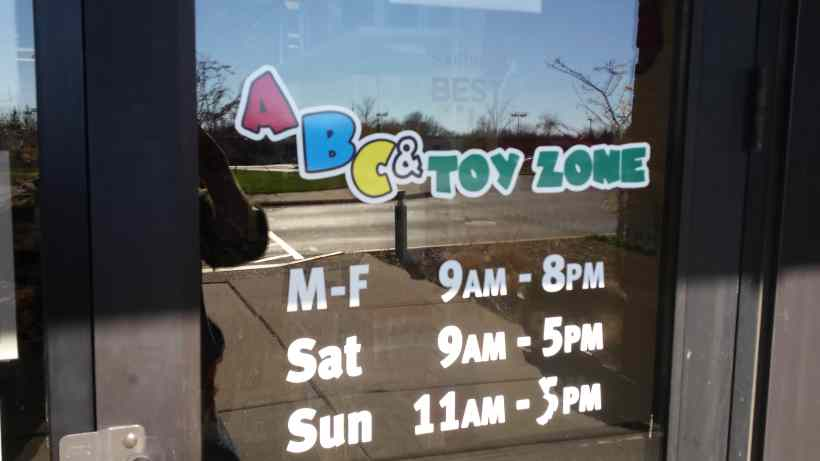 Hours at ABC Toy Zone