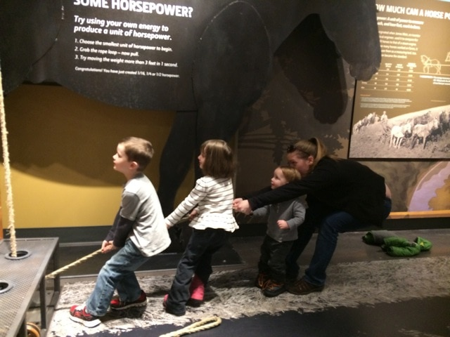 Horsepower exhibit at John Deere Museum