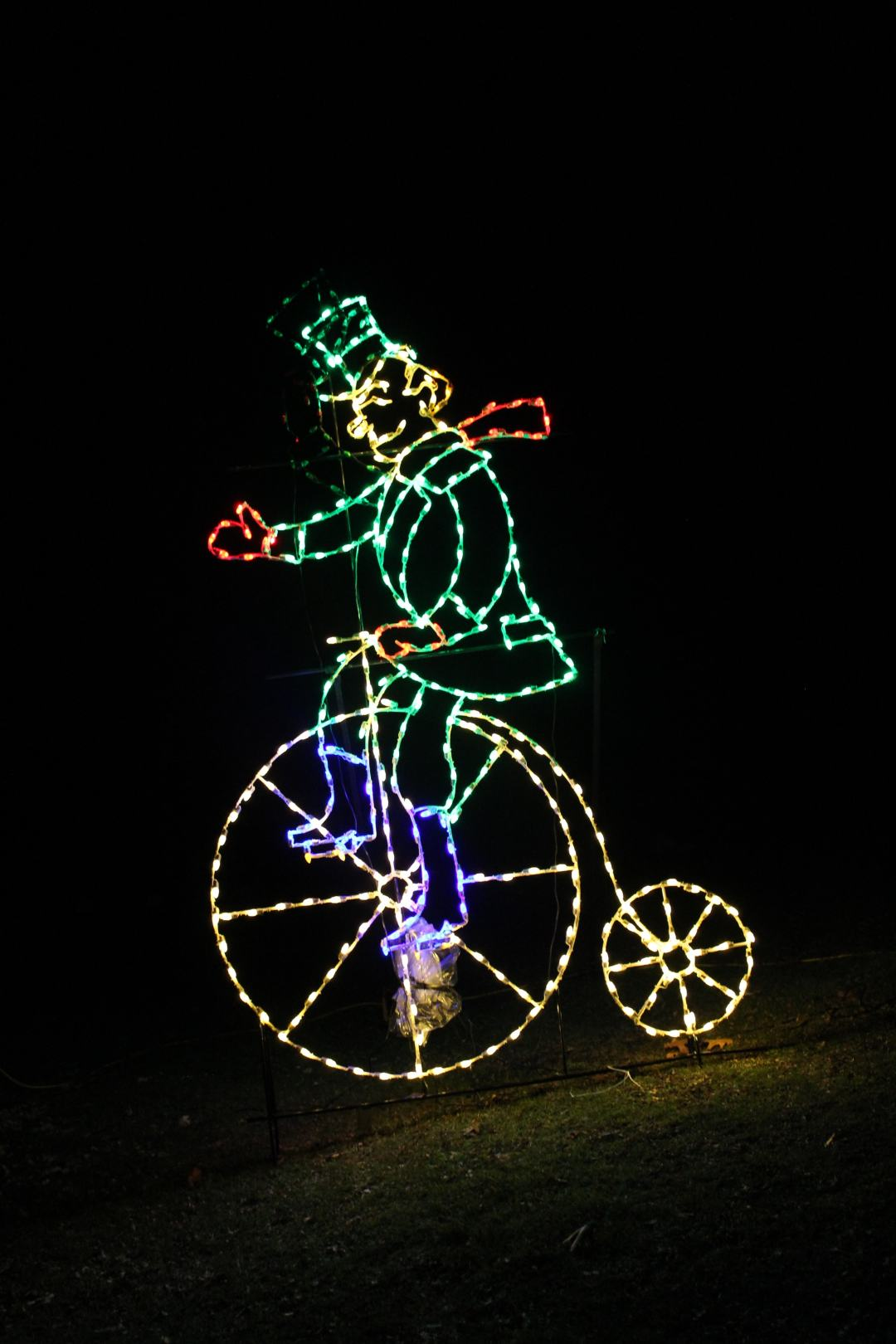 St. Paul Holiday Lights in the Park Unicycle