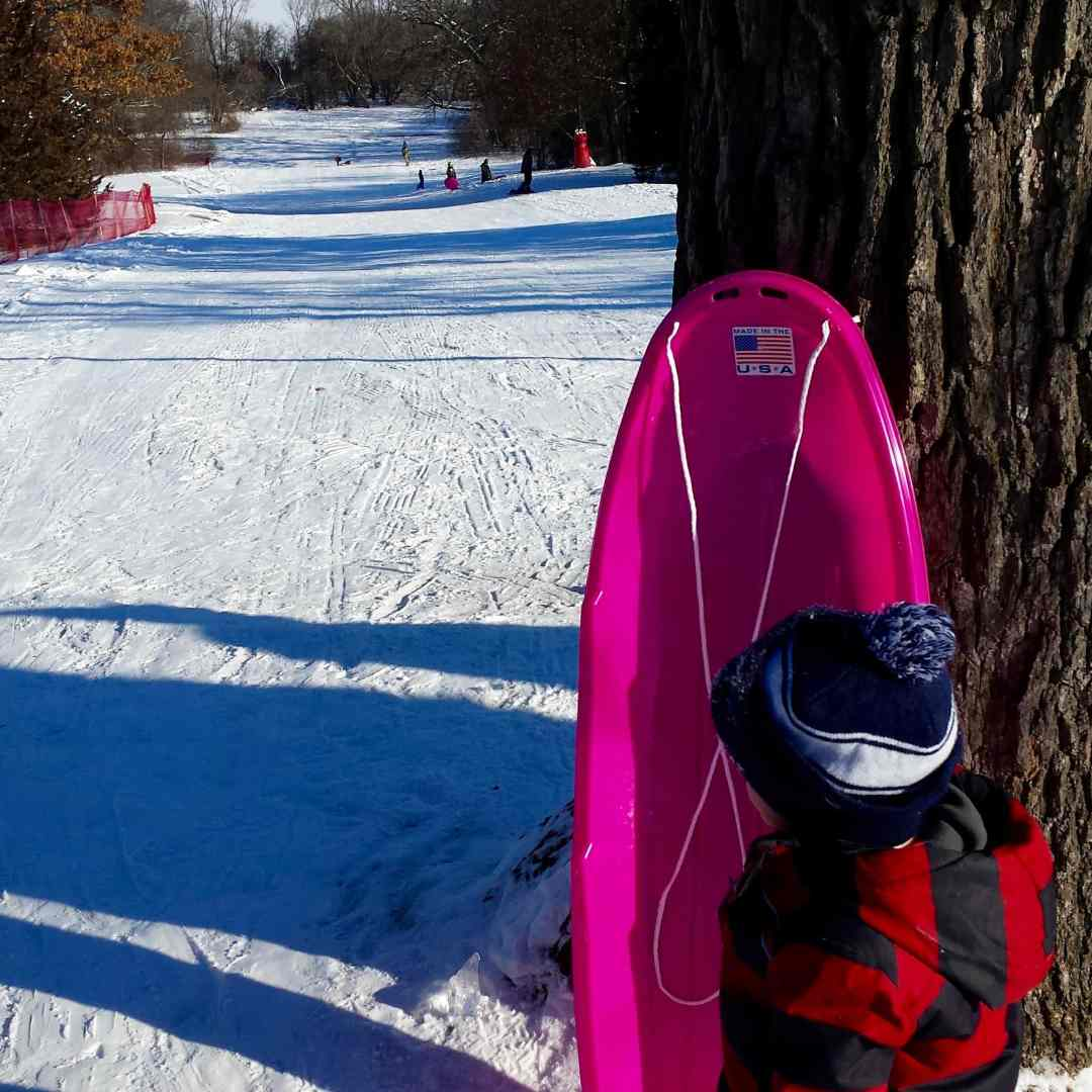 Staring Lake Park Sledding Hill in Eden Prairie