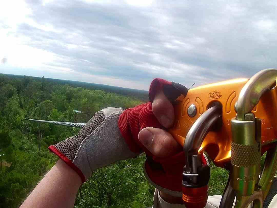 Zip Lining with Minnesota Zipline Adventures
