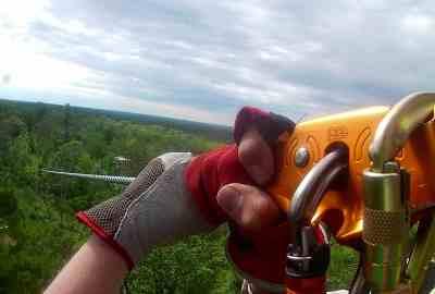 Zip Lining with Minnesota Zipline Adventures