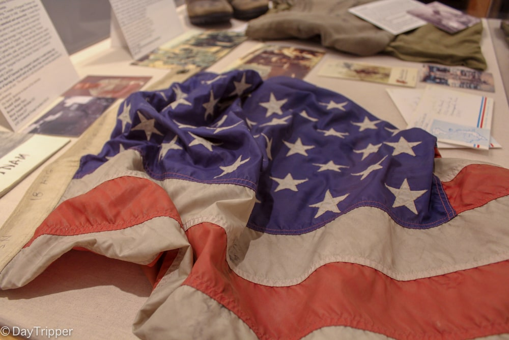 American flag at the Minnesota Military Museum