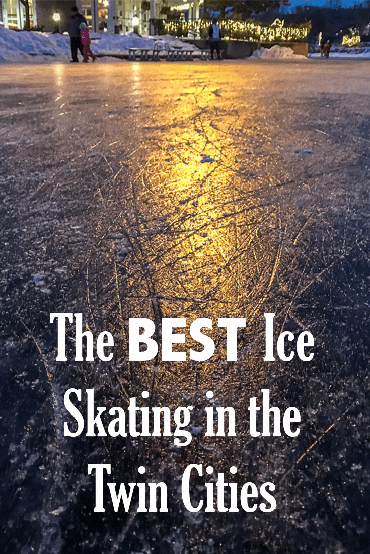 The Best Ice Skating in the Twin Cities can be found at Centennial Lakes in Edina. Great for the whole family! Family Fun | Twin Cities Activities | Winter in Minnesota | Date Night in the Twin Cities