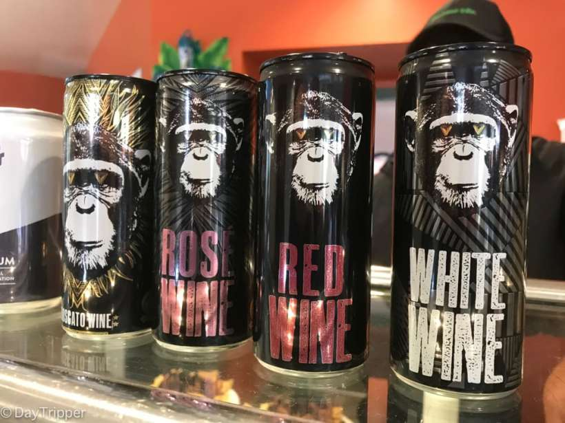 Wine and other dinning options at the San Diego Zoo