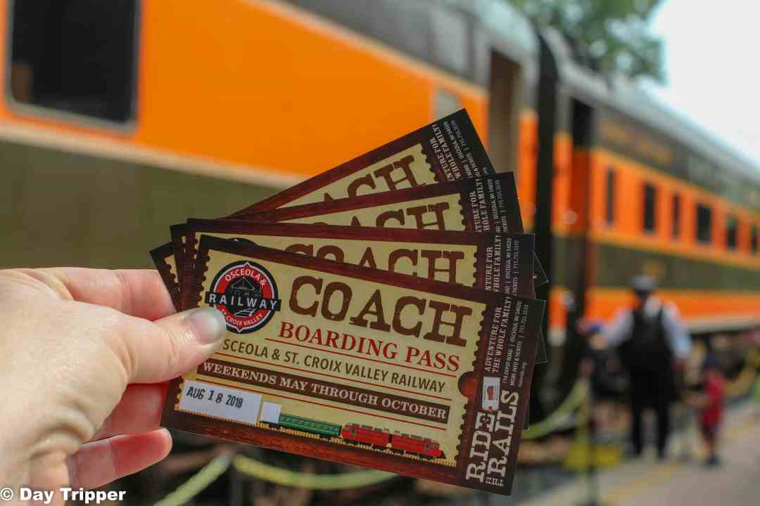 Tickets to the Osceola and St. Croix Valley Railway