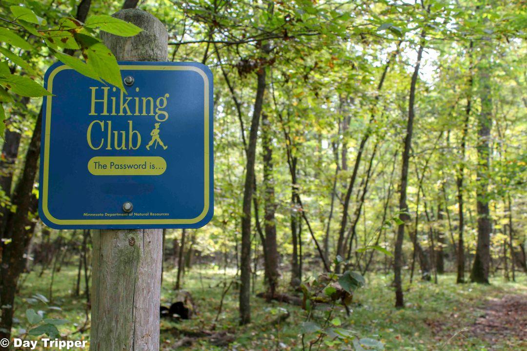 Lake Carlos State Park Hiking Club Sign