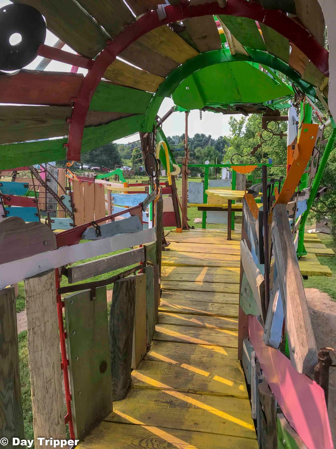 Inside the play structure