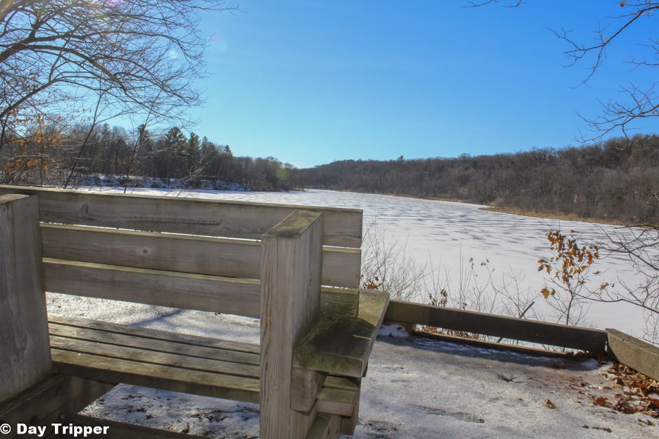 Bench on William O'Brien State Park