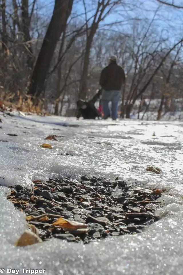 Icy Hiking Trail