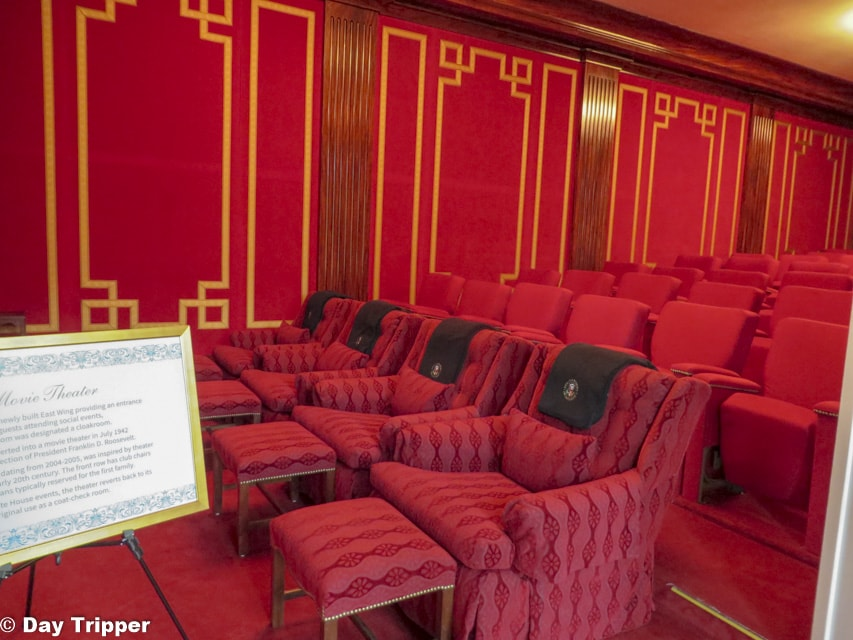 The Family Theater Room in the White House