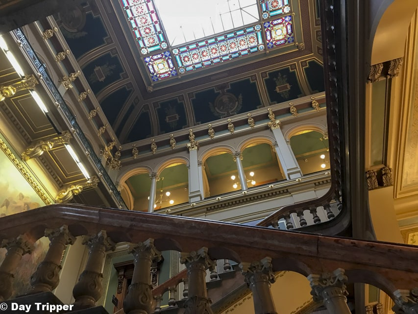 Stairs inside the Iowa State Capitol