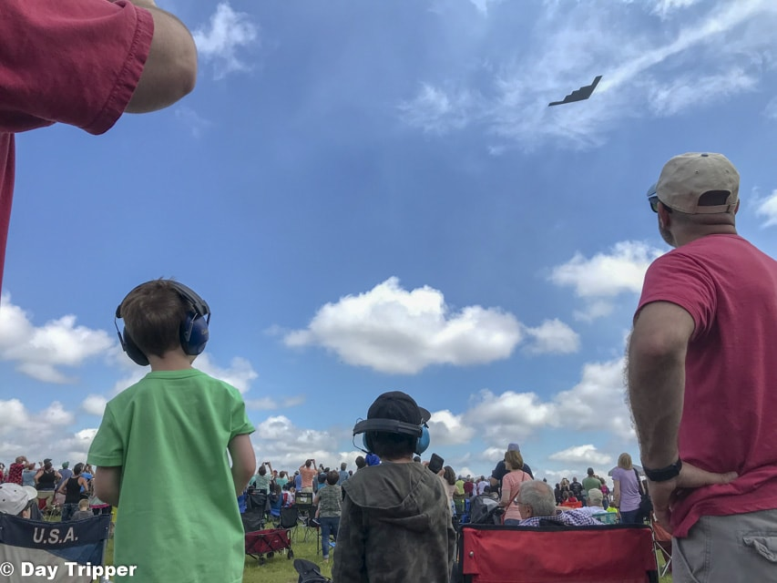 Watching an Air Show and the B-2 Spirit Stealth Bomber