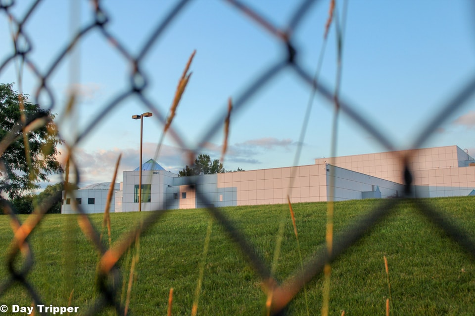 Paisley Park through the fence.