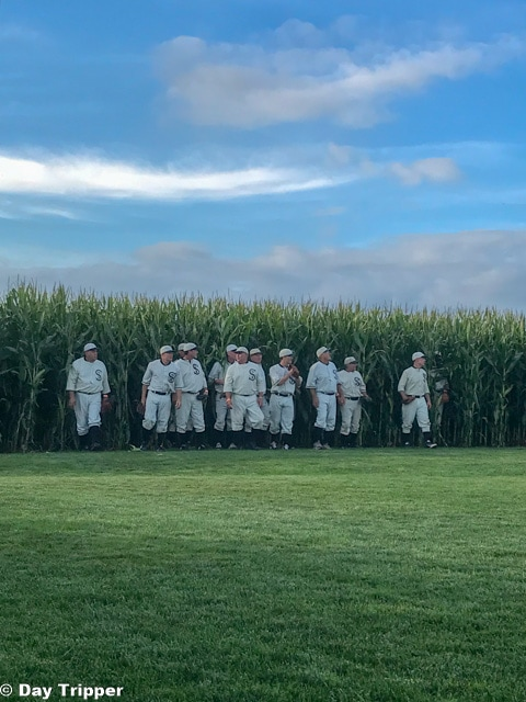 The Ghost Players at the Field of Dreams take the field.