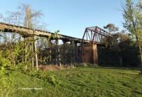 Old tramway bridge over Yass River, Yass, New South Wales, Australia