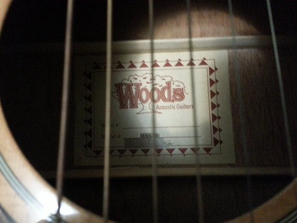 Creepin' in on the sound hole of the Wood's.