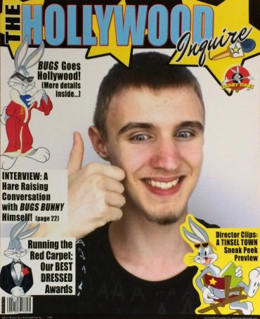 Check it out: quick-witted world-famous cartoon personality Bugs Bunny's immortalizing me in this brilliant magazine cover!