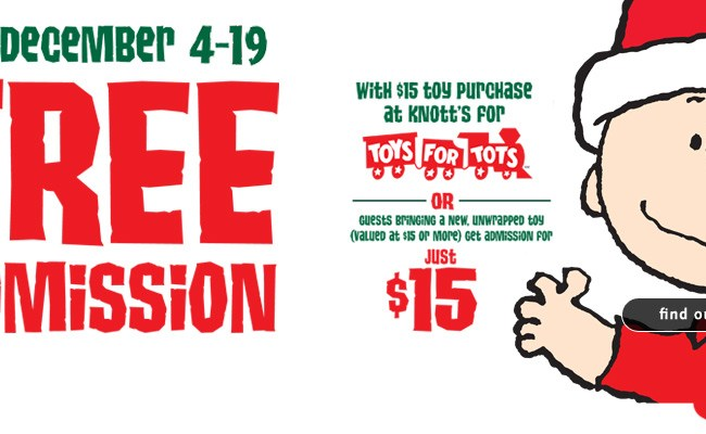 Toys For Tots Drive At Knott S Berry Farm Daytripping Mom