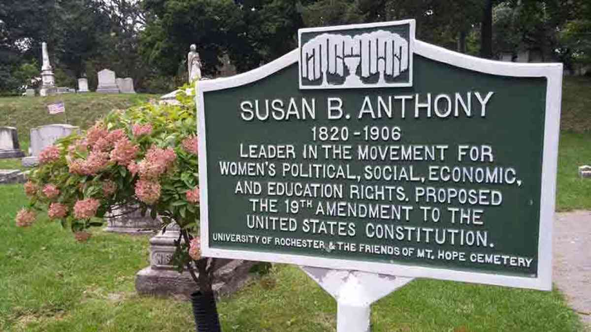 Mount Hope Cemetery Rochester NY Susan B. Anthony