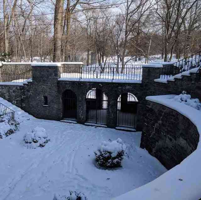 Sunken Garden at Warner Castle Rochester NY