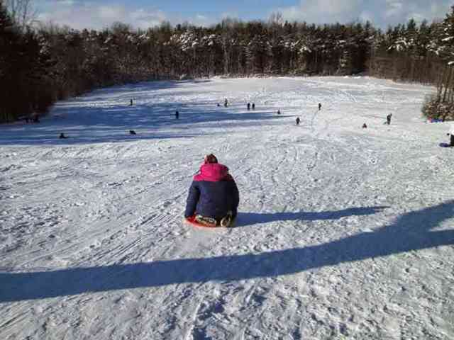 Sledding at Mendon Ponds Park