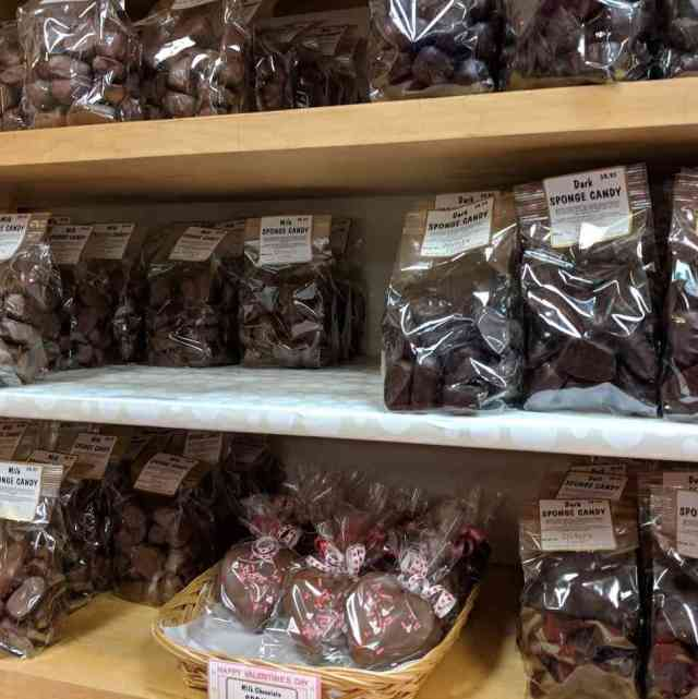 Rochester-Area Chocolatiers: Stevers Milk and Dark Chocolate Sponge Candy
