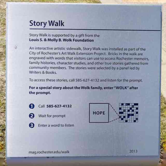 Memorial Art Gallery Story Walk Instructions