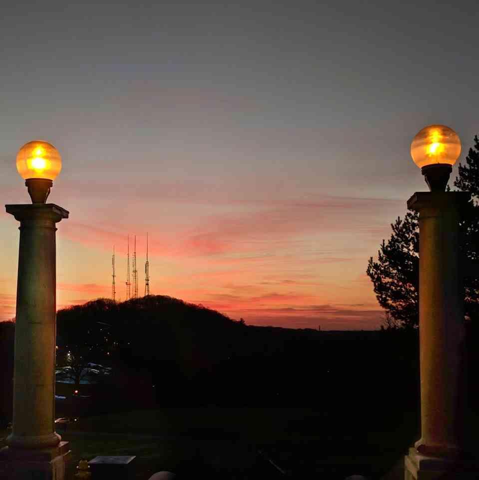 Cobbs Hill sunset winter
