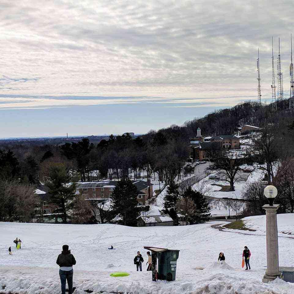 Cobbs Hill winter sledding