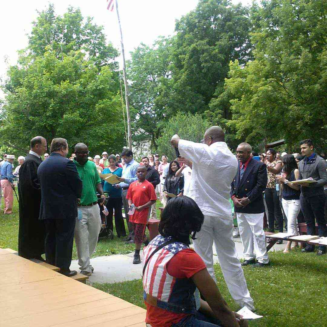 Genesee Country Village and Museum naturalization ceremony