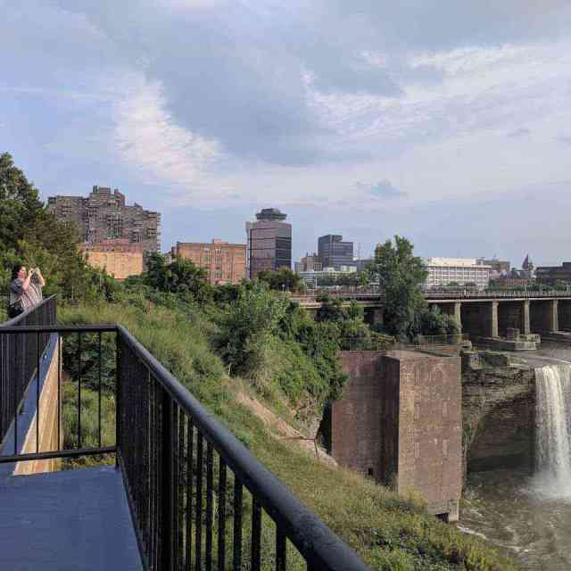 High Falls Rochester NY Genesee River east side overlook