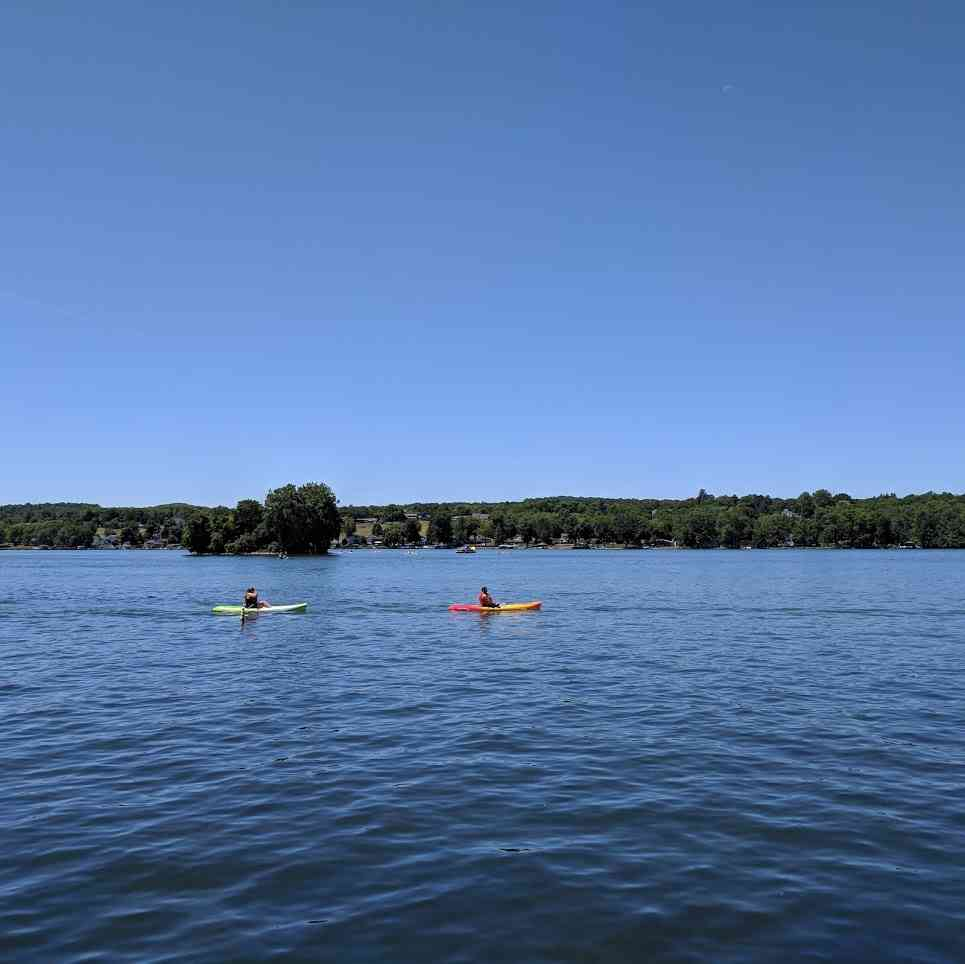 Kayaking Canandaigua Lake