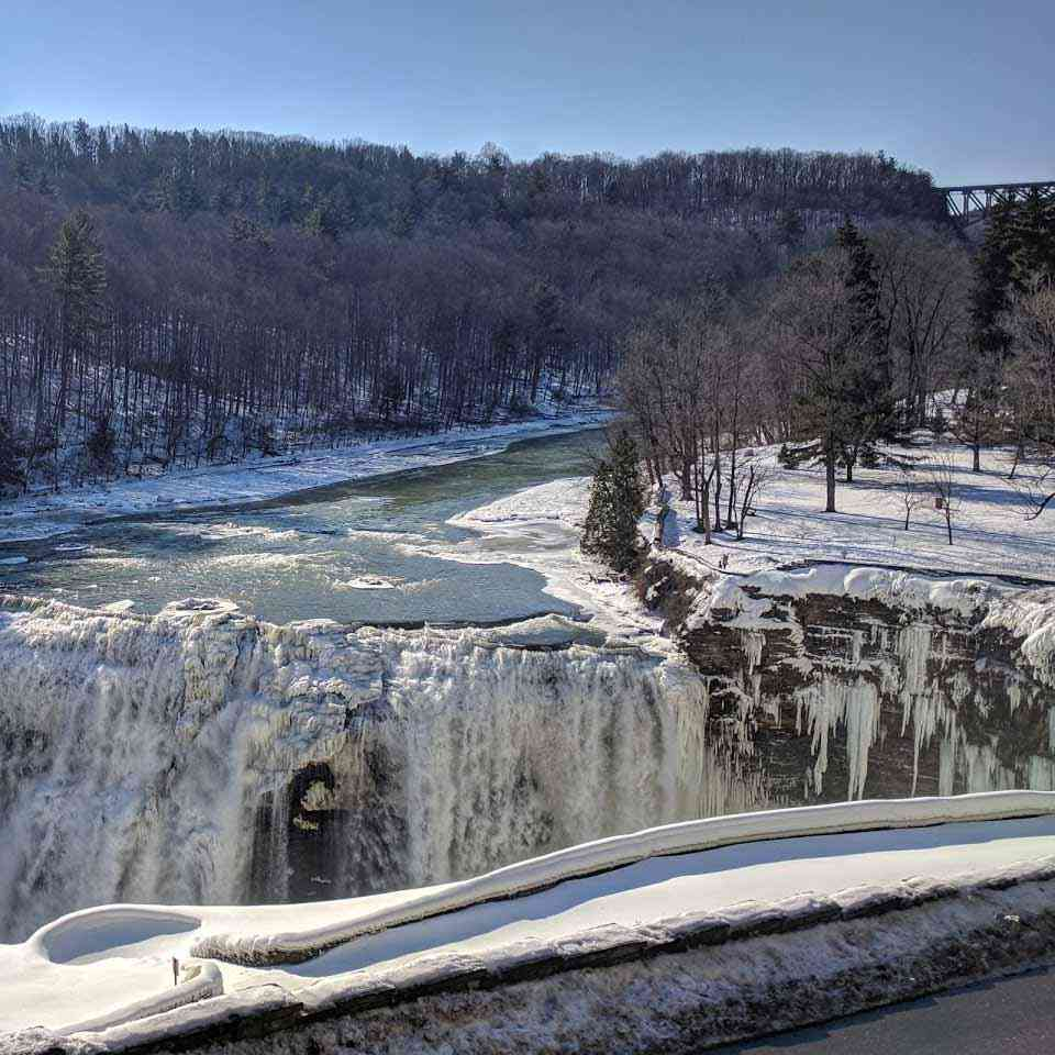 Letchworth Middle Upper Falls Winter