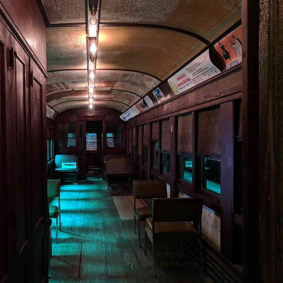 New York Museum of Transportation Trolley Car