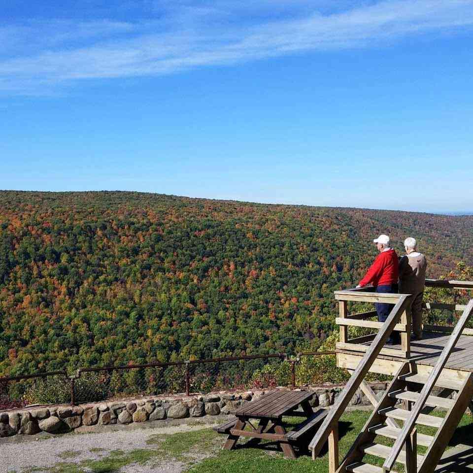 Ontario County Park Gannett Hill Jump Off Trail viewing platform