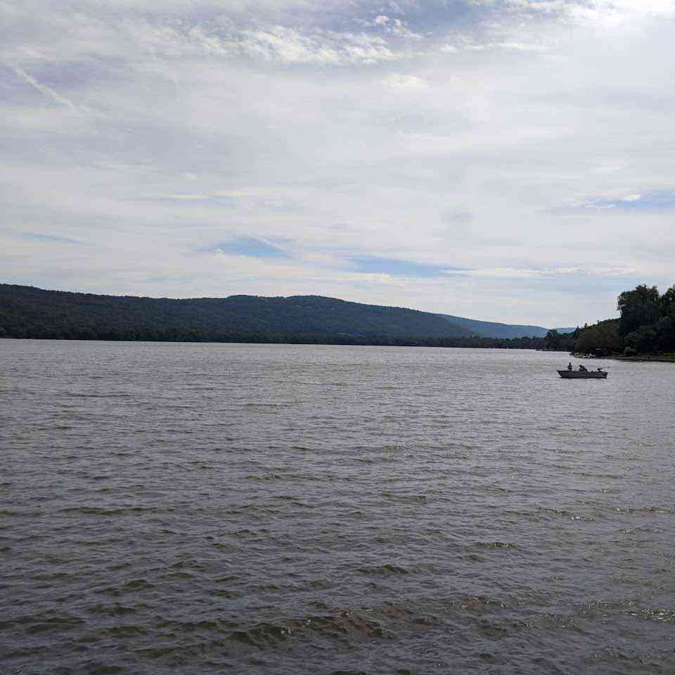 Otisco Lake Causeway looking south