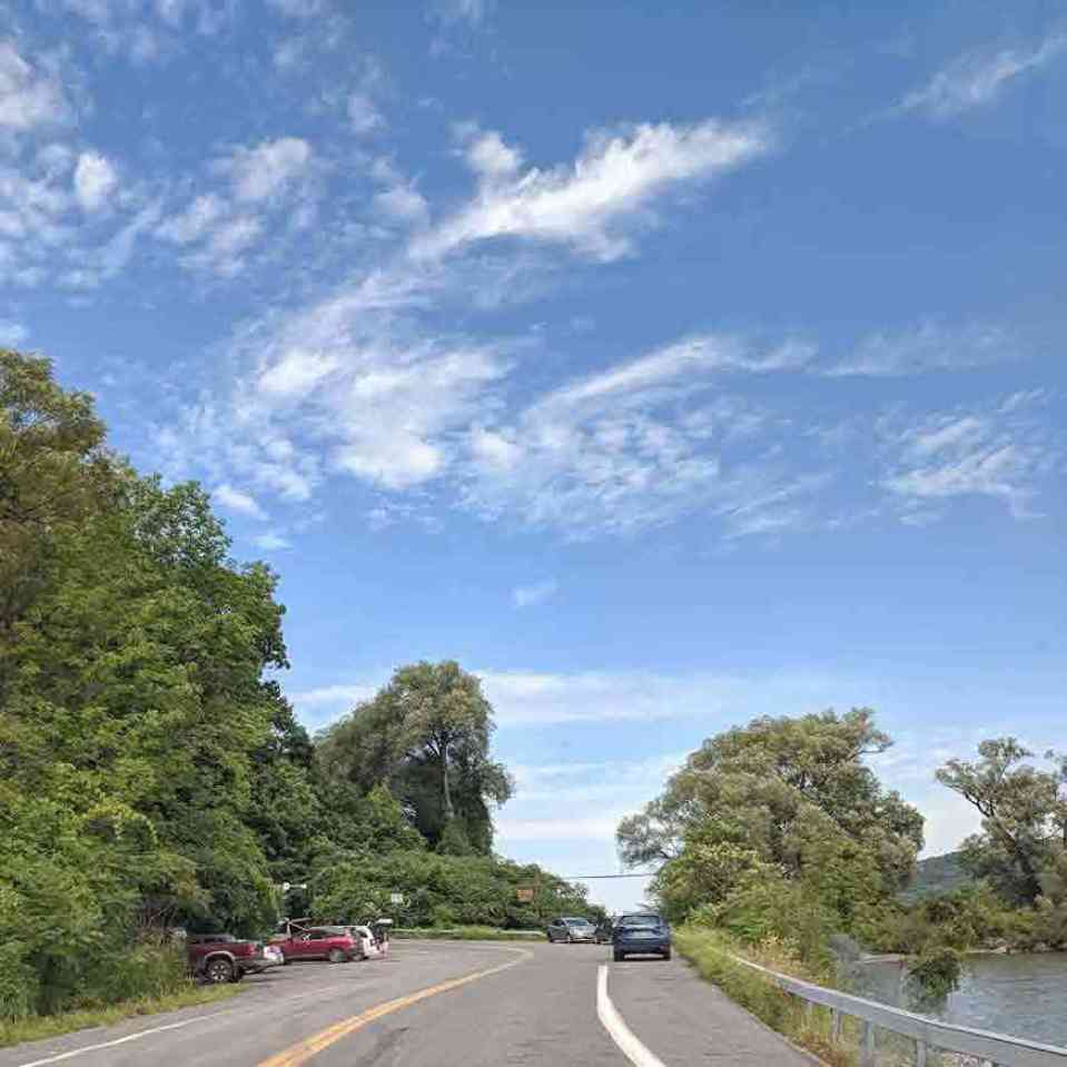 Otisco Lake causeway parking