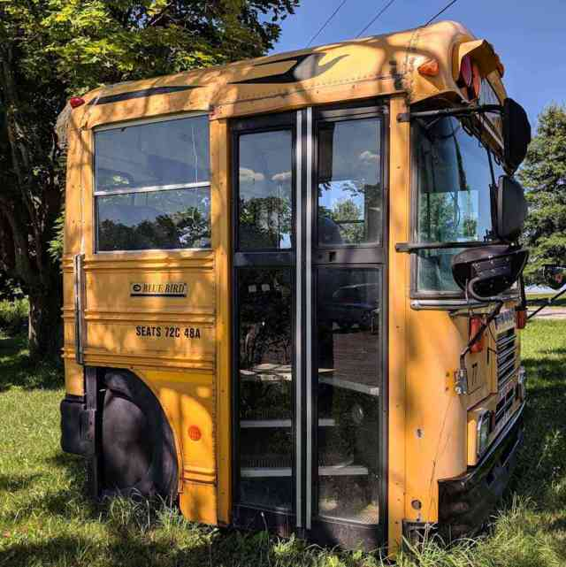 Rochester-Area Roadside Attractions - Tiny Bus in East Bethany NY