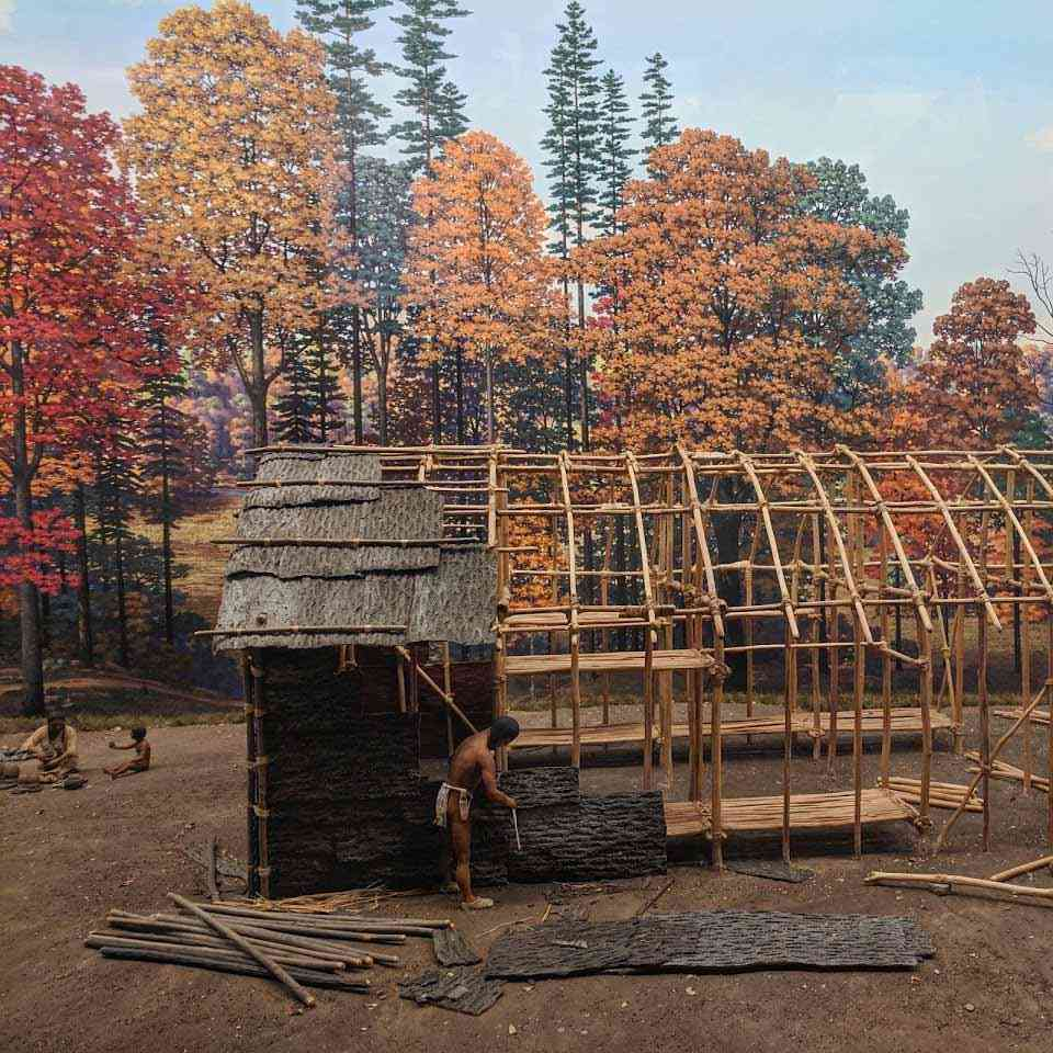Rochester Museum Science Center diarama Native Long House