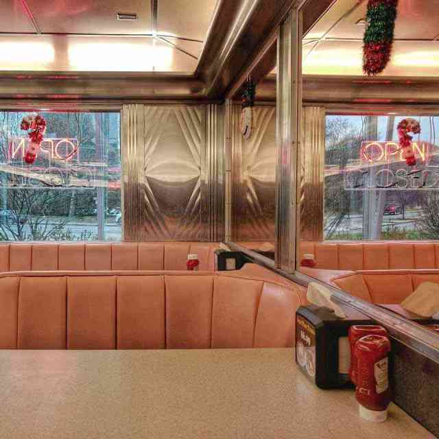 Dining car diners: Strong Museum of Play Bill Grays Skyliner Diner interior